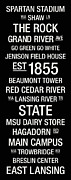 Athletic Posters - Michigan State College Town Wall Art Poster by Replay Photos