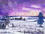 Christmas Greeting Originals - Michigan Winter by Alla Dickson