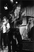 Performing Photo Acrylic Prints - Mick Jagger 1970s London Acrylic Print by Homer Sykes