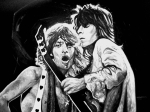 Jagger Paintings - Mick Jagger and Keith Richards by Gill Bustamante