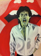 Jagger Paintings - Mick Jagger by Carla Bank