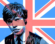 British Music Art Posters - Mick Jagger Carnaby Street Poster by David Lloyd Glover