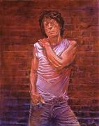 Singer Paintings - Mick Jagger by David Lloyd Glover