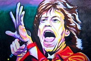 Band Painting Originals - Mick Jagger by Ken Huber