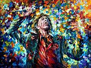 Mick Jagger Painting Metal Prints - Mick Jagger Metal Print by Leonid Afremov