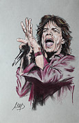 Rolling Stones Pastels Originals - Mick Jagger by Melanie D