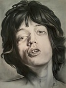 Mick Jagger Drawings - Mick Jagger by Morgan Greganti