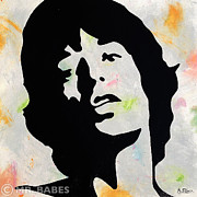 Rolling Stones Painting Originals - Mick Jagger by Mr Babes