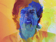 Stones Digital Art Prints - Mick Jagger Print by Irina  March