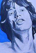 Rolling Stones Paintings - Mick Jagger Rolling Stones Portrait by Mikayla Henderson