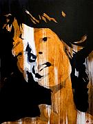 Mick Jagger Painting Metal Prints - Mick Jagger Satisfaction Metal Print by Brad Jensen