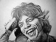 Mick Jagger Drawings - Mick Jagger by Sean Leonard