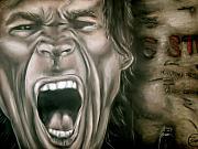 Mick Jagger Print by Zach Zwagil