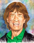 Rolling Stones Pastels Originals - Mick by Thomas Marquez