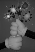 Gloves Digital Art - Mickeys Flowers by Rob Hans