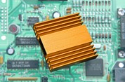 Extruded Framed Prints - Microchip Processor Heat Sink Framed Print by Sheila Terry