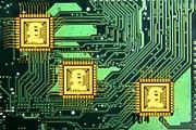 Microchip Sales, Conceptual Image Print by Victor De Schwanberg