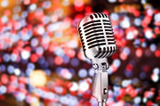 Metallic Photo Prints - Microphone Print by Setsiri Silapasuwanchai