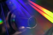 Microscope Lens And Light Beams Print by Sami Sarkis