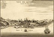 World Cities Posters - Mid 18th Century View Of Quebec Poster by Everett