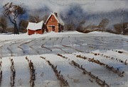 Corn Paintings - Mid January by Len Stomski
