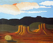 Greeting  Cards. Arizona Paintings - Mid-Morning on a western Plains by Margaret Harmon