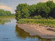 Summer Scene Originals - Mid Summer Prairie Stream by Bruce Morrison
