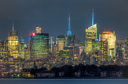 Nast Metal Prints - Mid-town Manhattan Twilight I Metal Print by Clarence Holmes