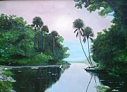 Florida Paintings - Miday Or The River by Francis Roberts ll