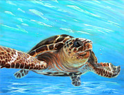 Water Pastels - Midday Swim by Deb LaFogg-Docherty