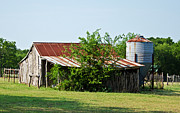 Feed Mill Photo Metal Prints - Middle Barn Metal Print by Lisa Moore