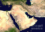 Gulf Images Posters - Middle East Poster by NASA / Science Source