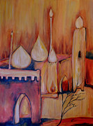 Dome Paintings - Middle Eastern Gold 2 by Amanda Dinan