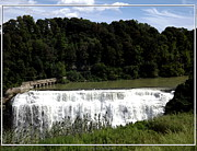 Artists4god Prints - Middle Falls in Rochester New York Print by Rose Santuci-Sofranko