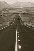 Black Top Prints - Middle of the Road Print by David  Hubbs