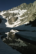 Finger Lake Prints - Middle Palisade Peak Reflects In Finger Print by Gordon Wiltsie