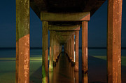 Midnight At Brighton Jetty Print by Andrew Dickman