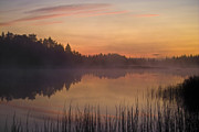 Landscape - Midnight at Lake in Finland by Heiko Koehrer-Wagner