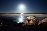 Brian Carr-rollitt Prints - Midnight beach Print by Brian Kenneth
