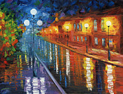 New Orleans Oil Paintings - Midnight City by Ash Hussein