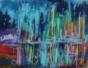 Abstract Expression Pastels - Midnight Dance by John  Williams