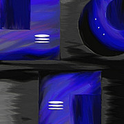 Abstracts Paintings - Midnight by Ely Arsha