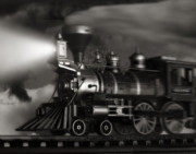 Steam Engine Prints - Midnight Flyer Print by Tom Mc Nemar