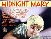 Loretta Posters - Midnight Mary, Loretta Young, 1933 Poster by Everett