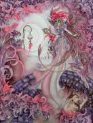 Faery Posters Paintings - Midnight Masquerade by Ora  Moon