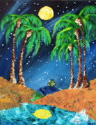 Full Moon Pastels - Midnight Paradise by Ifeanyi C Oshun