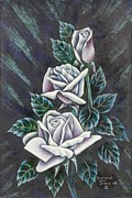 Gift Pastels Originals - Midnight Roses by Richard Van Order
