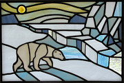Arctic Glass Art - Midnight Sun by Dy Witt