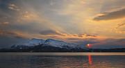 Midnight Sun Over Tjeldsundet Strait Print by Arild Heitmann