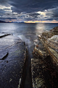 Troms County Prints - Midnight Sun Over Vagsfjorden In Troms Print by Arild Heitmann
